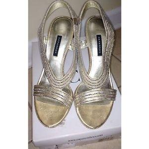Caparros gold sandal heels